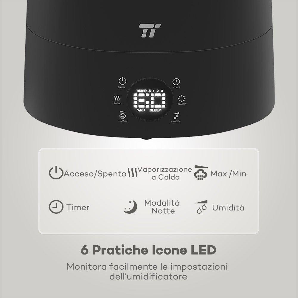 61rv54gsT1L. SL1000  TaoTronics TT AH007, umidificatore ad ultrasuoni da 5,5 l con sensore di umidità