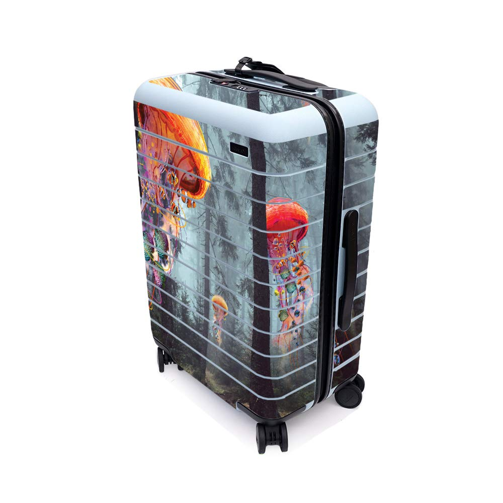 MightySkins Skin for Away The Bigger Carry-On Suitcase - Electric Jellyfish | Protective, Durable, and Unique Vinyl Decal wrap Cover | Easy to Apply, Remove, and Change Styles | Made in The USA
