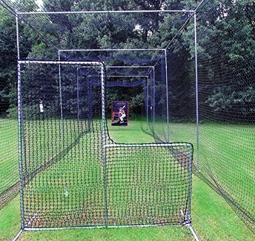 L-Screen 6' x 7' Professional Baseball Safety Frame & Heavy 60ply Net L Screen … by Jones Sports