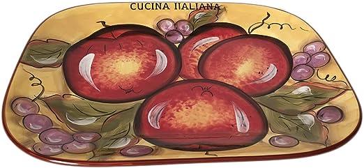 Classic Cucina Italiana Ceramic 3 pcs Salad Set Honey Fruit Decor