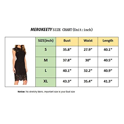 44477a88eed ... MEROKEETY Women s Sleeveless Lace Floral Elegant Cocktail Dress Crew  Neck Knee Length for Party ...