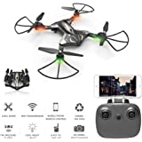TKKJ L600 Wifi FPV Drone with 0.3MP HD Camera Live Video RC Foldable Quadcopter with Optical Flow Altitude Hold and Headless Mode