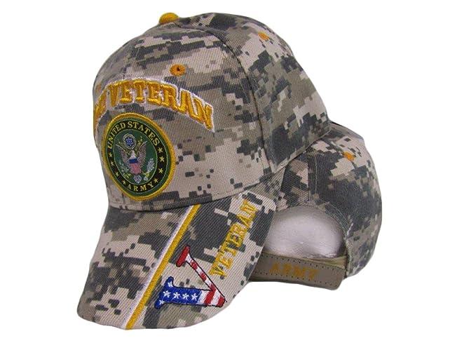 b64dbd9c00853 US Army Veteran Vet USA Flag V Digital Camo Camouflage Embroidered Cap Hat