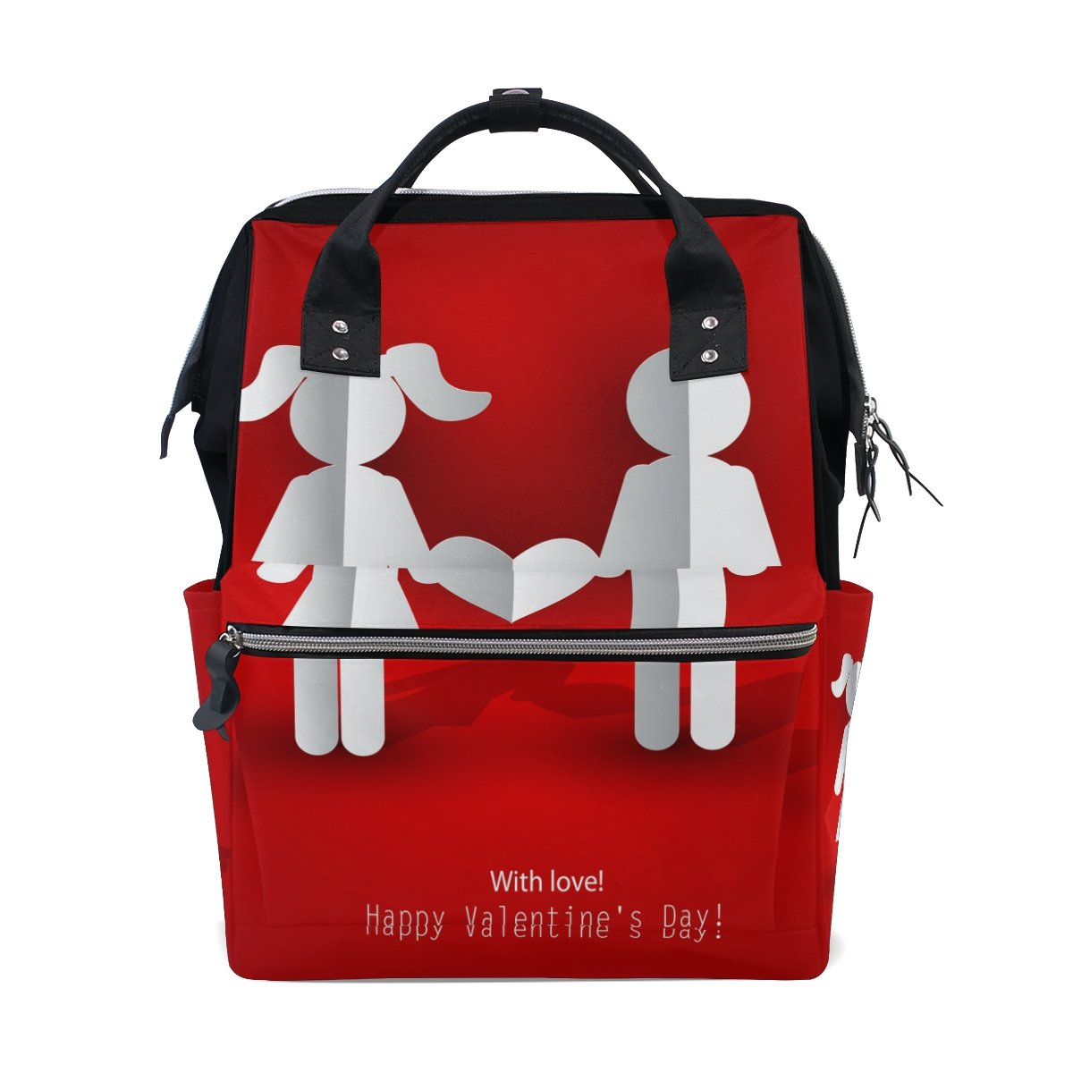 Backpack School Bag Wedding Heart Love Canvas Travel Doctor Style Daypack
