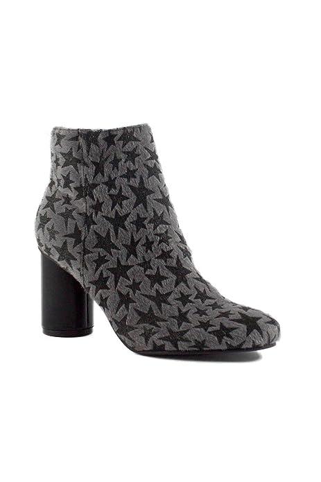 SHLEP Botines de Mujer Dama Grises Pelo c/Estrellas - DCE MODA/40: Amazon.es: Zapatos y complementos