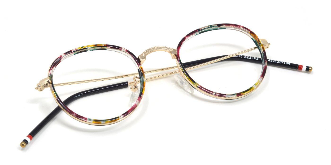 TIJN Retro in Chic Metall-Rahmen Brille Flexibel Buegel 67Ti0To7tf