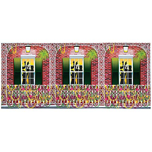 Fun Express Mardi Gras Design-a-Room Balcony Background, 30 x 4' -