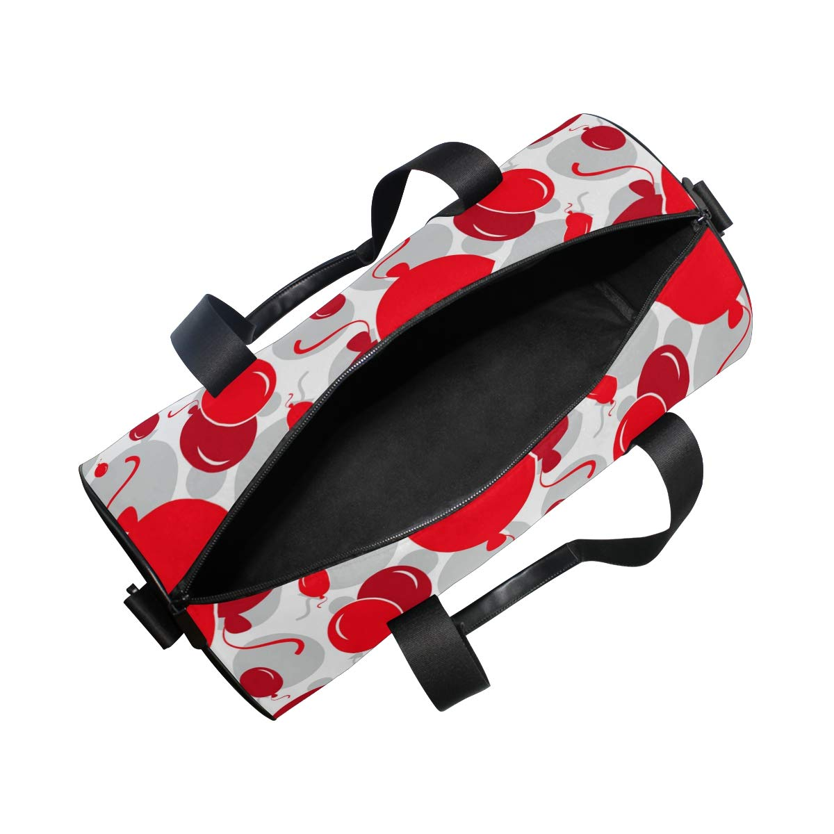 Sports Gym Duffel Barrel Bag Red Balloons Happiness Travel Luggage Handbag for Men Women