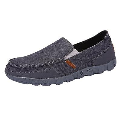 Juleya Homme Mocassins Chaussures Plate Loafers Toile Formateurs Plimsolls  Mode Été Pompes Plate-Forme Chaussure Bateau, Chaussures de Conduite  Sandales, ... 48a1bb2e158