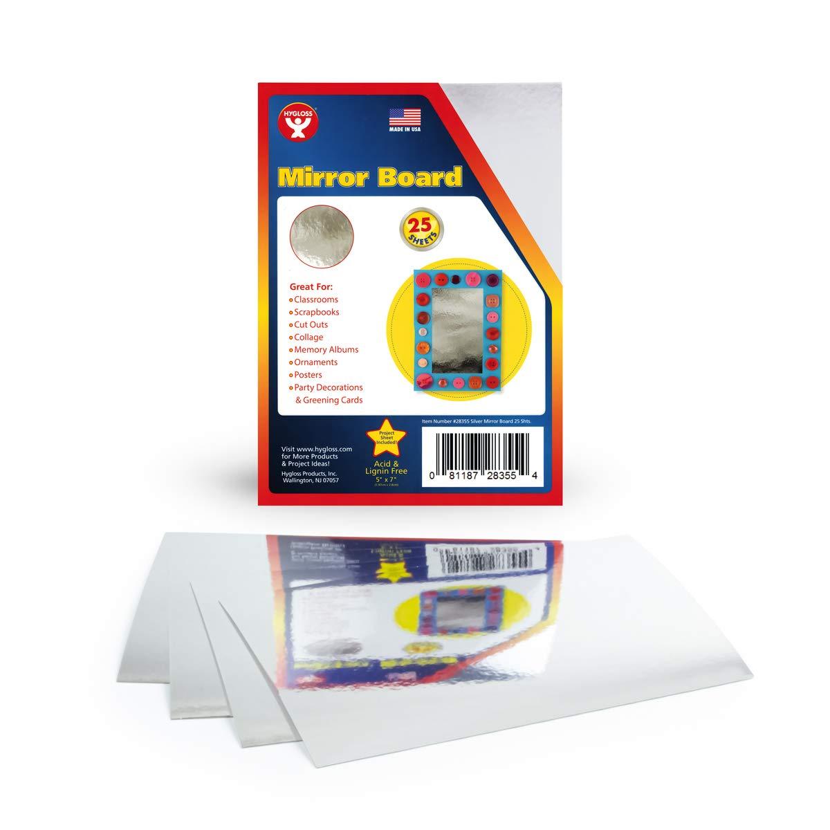 "Mirror Board 12pt. - 5""x7"" - 25 sheets / SPECIAL Classroom Pack-Silver: Industrial & Scientific"