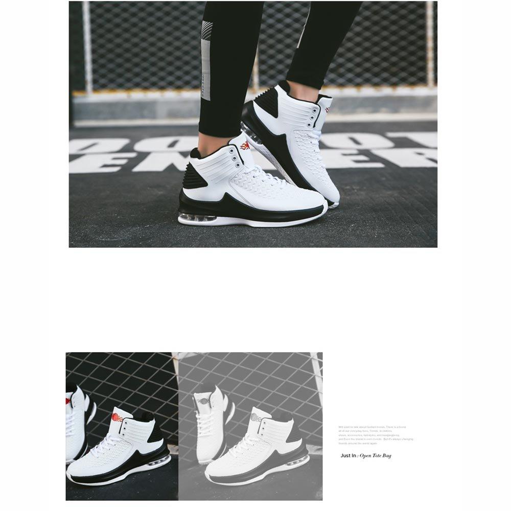 LVZAIXI Schuhe Herrenschuhe Rot Flut Schuhe Hoch Hilfe Schuhe Schuhe Schuhe Männliche Turnschuhe gemütlich ( Farbe   Weiß , größe   EU42 UK8.5 CN43 ) 04f268
