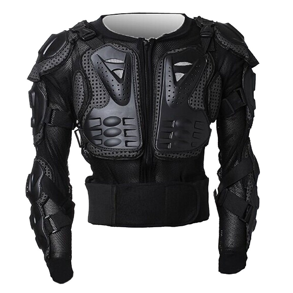 Peto Integral Moto, Motocross, Enduro, chaqueta Proteccion NEGRO M L XL XXL XXXL (XXL): Amazon.es: Coche y moto