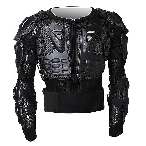 Peto Integral Moto, Motocross, Enduro, chaqueta Proteccion NEGRO ML XL XXL XXXL (M)