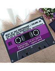 Iuhan 40X60cm 3D Christmas Dining Room Carpet Shaggy Soft Area Rug Bedroom  Rectangle Floor Mat (Purple)