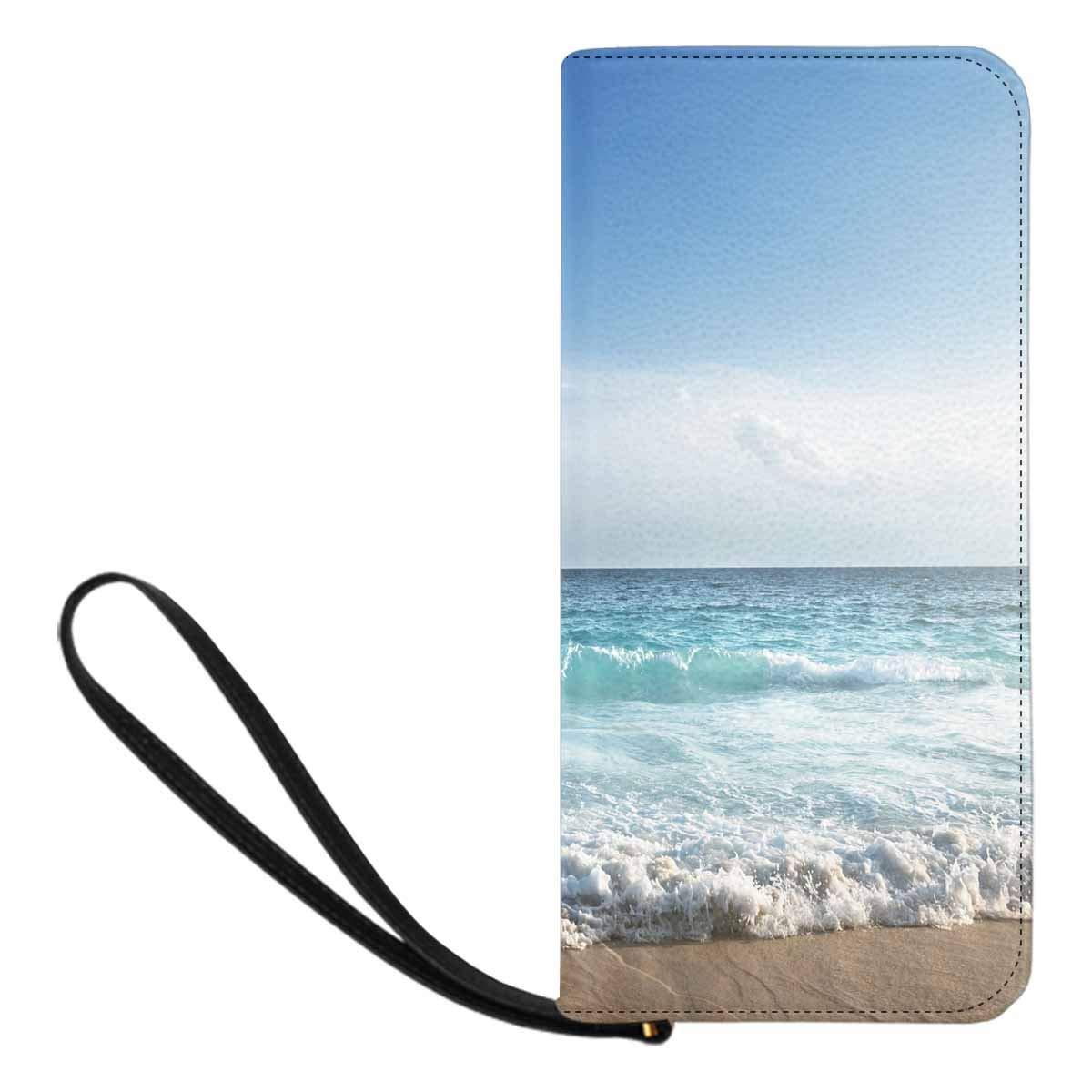 InterestPrint Womens Seychelles Beach in Sunset Time Clutch Purse Card Holder Organizer Ladies Purse