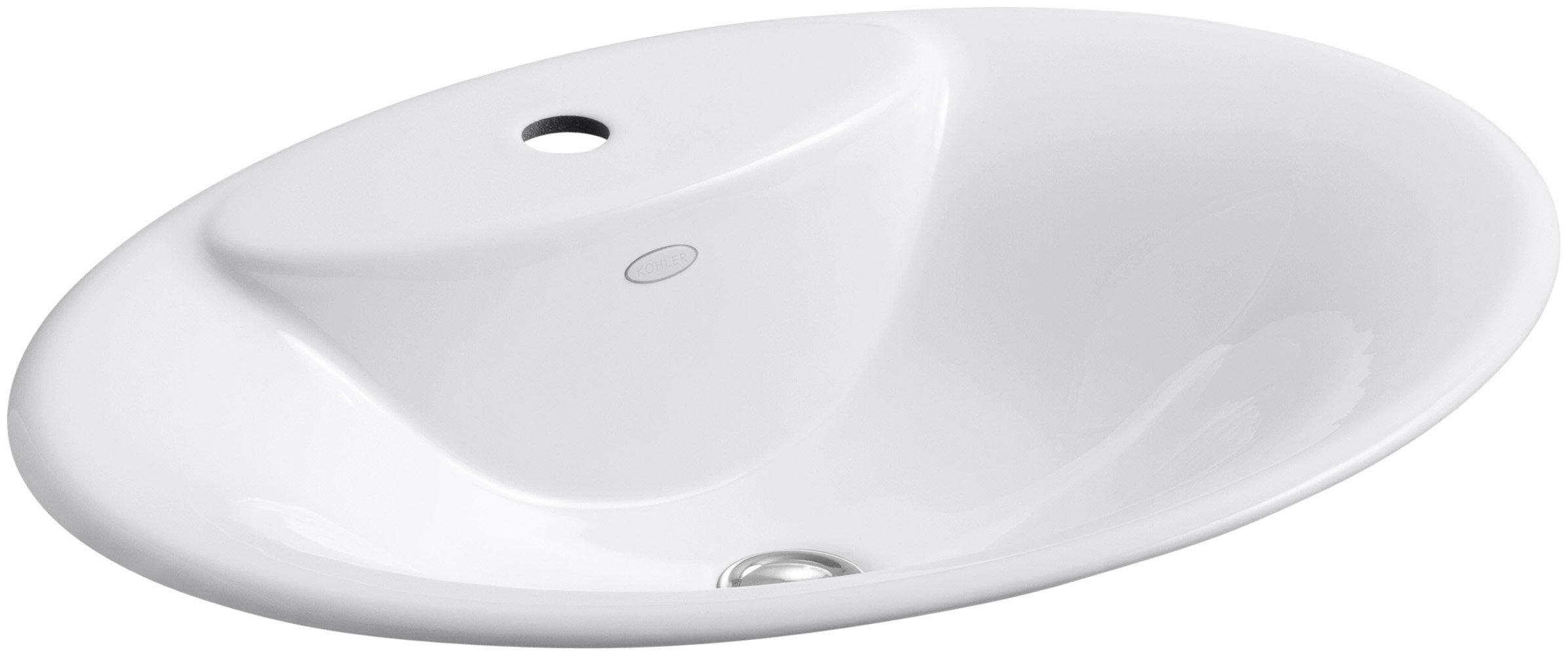 KOHLER K-2831-1-0 Maratea Self-Rimming Bathroom Sink, White by Kohler