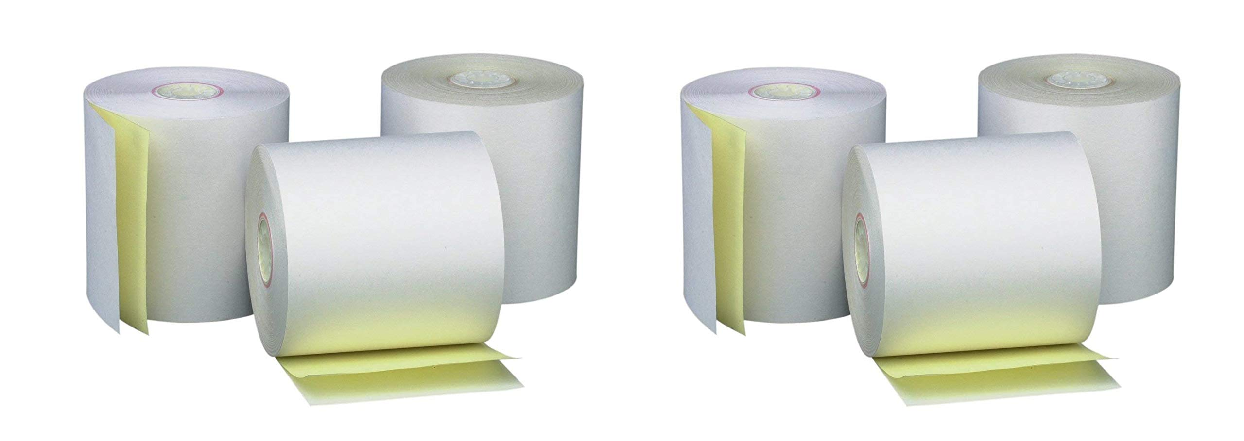 PM Company Perfection Two Ply Carbonless Rolls, 3 X 95 Feet, White/Canary, 50 Rolls Per Carton (07901) (2 X Pack of 3)
