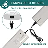(4 Pack) Linkable LED Shop Light with Pull