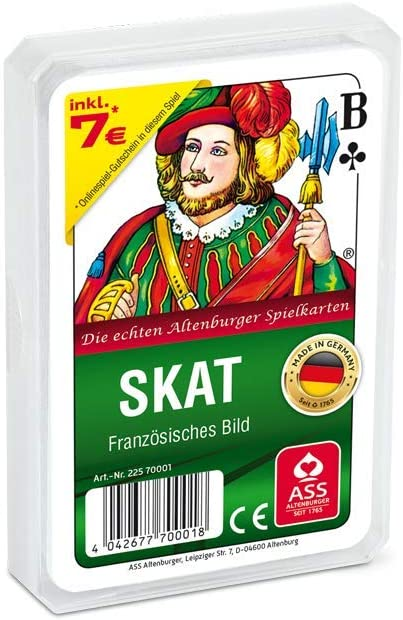 Skat Philos Ass Altenburger Spielkarten NB-335001-0049 franz/ösisches Bild Plastiketui 70001