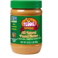 Teddie All Natural Peanut Butter, Smooth, 16-Ounce Jar (Pack of 4)
