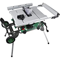 """Metabo HPT C10RJ 10-Inch Jobsite Table Saw, Class-Leading 35-Inch Rip Capacity, Fold & Roll Stand, 8 x 13/16"""" Dado Capacity, Portable and Lightweight, 2-Year Warranty"""