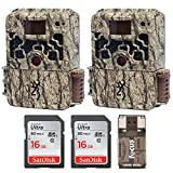 (2) Browning Trail Cameras Strike Force Extreme 16 MP Game Camera + 16GB SD Card + Focus USB Reader