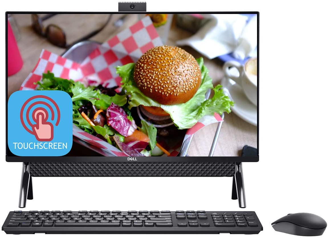 Newest Dell Inspiron 24 5000 Series All-in-one Desktop Computer, 23.8'' Full HD IPS Touchscreen, Intel Core i3 Processor, 8GB DDR4 1TB HDD, MaxxAudio WiFi BT 5.0 HDMI Webcam Keyboard&Mouse Win 10