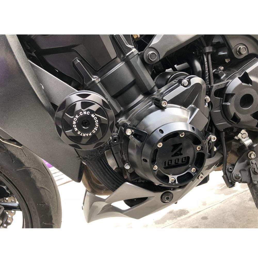 LAIDAN per Kawasaki Z1000 R ZX6R ZX10R Protezione Anticaduta Crash Pad Protezione Anti Crash per Moto Protezione del Pannello ,Nero 1 Paio