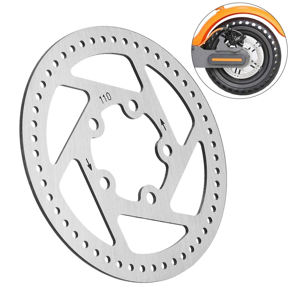 Delaman 11cm Electric Scooter Brake Disc Rotor Pad Replacement Parts for Xiaomi Mijia M365