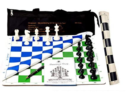 Paramount Dealz 17 Professional Vinyl Chess Set Combo(Fide Standards)- with 2 Extra Queens,Chess Bag, Scorebook & Pen