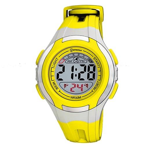 Montre Concept-Reloj digital de mujer/infantiles, correa de plástico, color amarillo-redondo Gris-marca Mingrui-MR8545, color amarillo: Amazon.es: Relojes