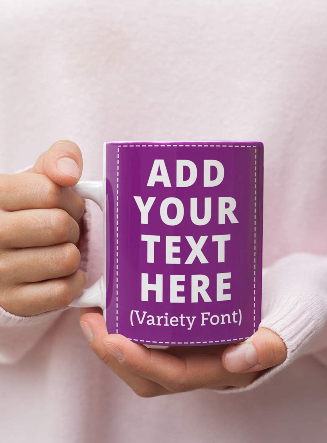 Custom Coffee Mugs, Personalized Add Your Own Text for Special Day, Boyfriend, Girlfriend, Parents, Office, Christmas Gifts Coffee Mugs (Purple, 15 Oz)