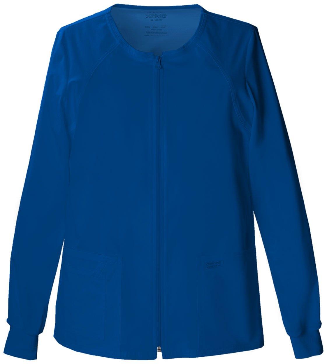 WorkWear by Cherokee 4315 Women's Zip Front Warm-Up Jacket Dark Khaki X-Small