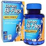 Osteo Bi Flex Glucosamine Chondroitin MSM, with 5-Loxin, Triple Strength, Coated Caplets 40 ct (Pack of 3)