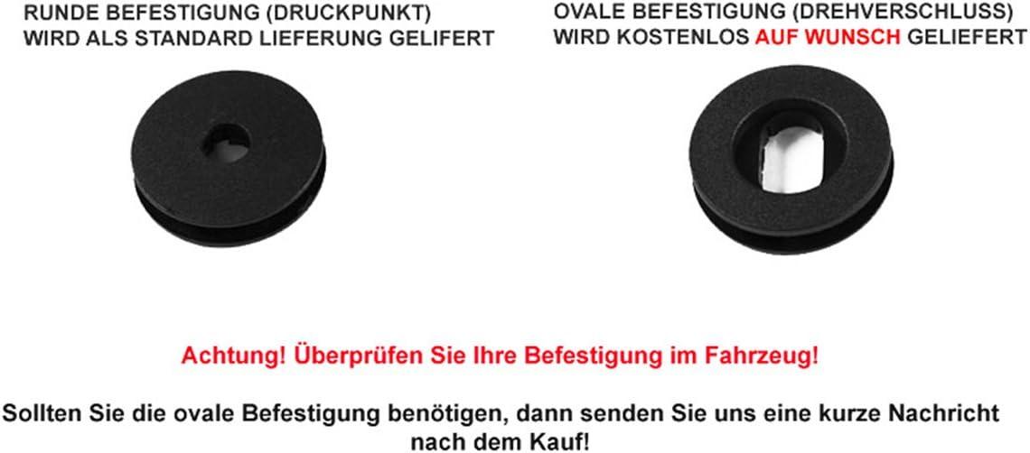 teileplus24 EF101 Fu/ßmatten Gummimatten Exclusive-line Design Bandeinfassung Ziern/ähte Naht:Silber