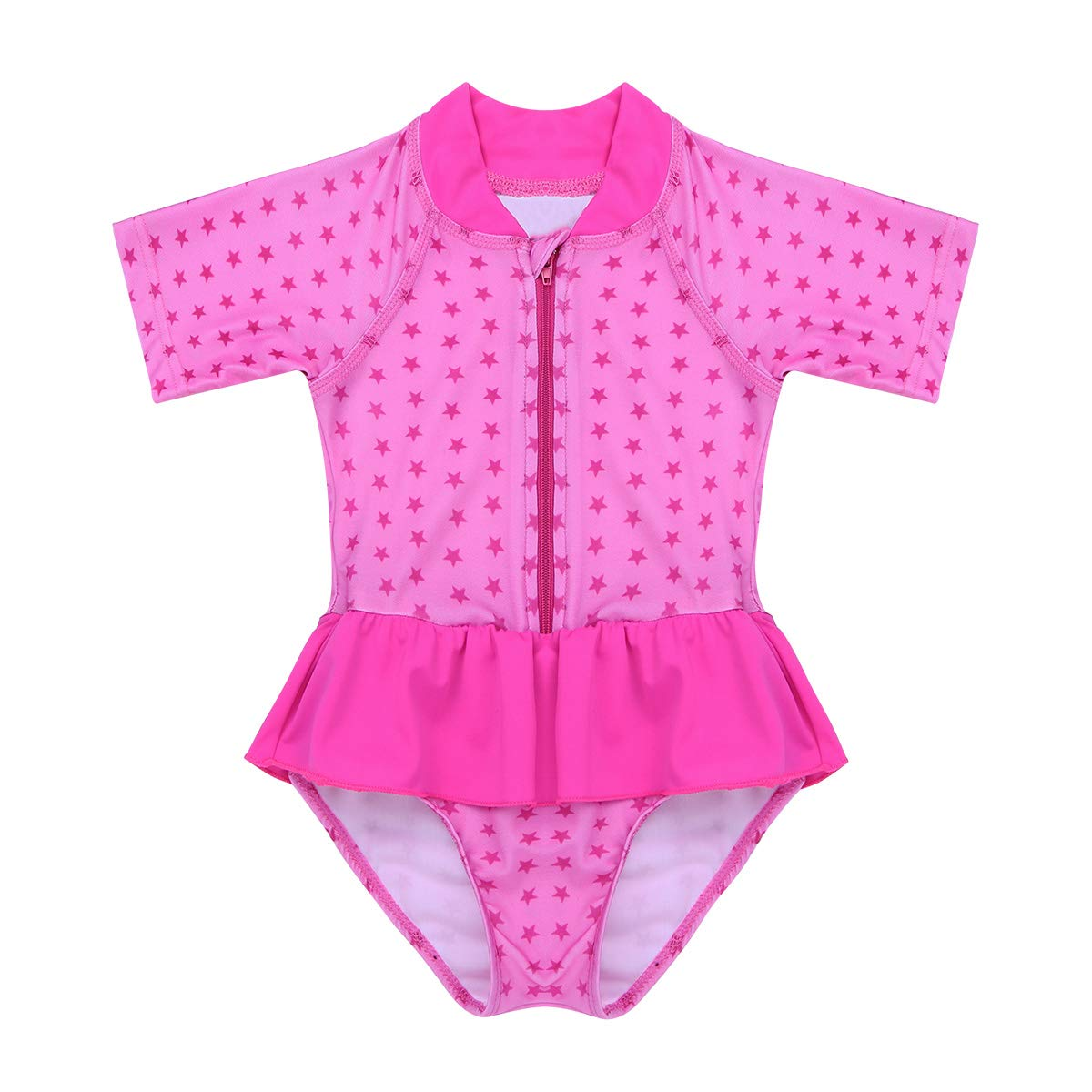 TiaoBug Infant Baby Girls Long Sleeves Floral Swimsuit