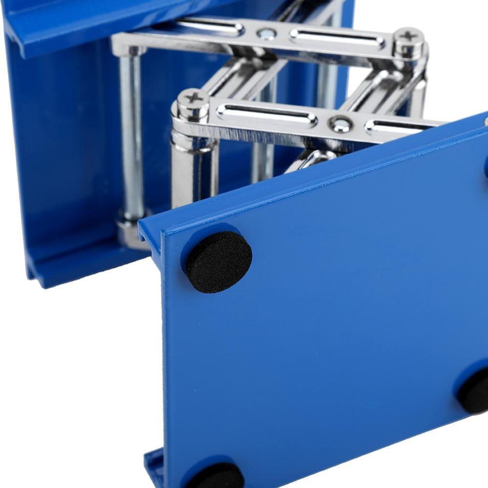 Black Handle 160mm 100 Lift Tables Stainless Steel Laboratory Lifting Platform Stand Rack Scissor Jack Lifter 100