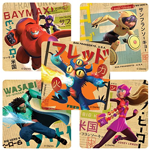 SmileMakers Big Hero 6 Stickers - Birthday Party Supplies and Favors - 100 Per Pack by SmileMakers