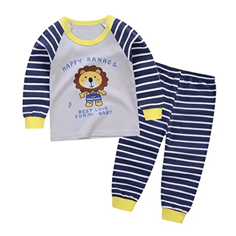 Baby Girl Girl Pyjamas Set Cartoon Sleeuit manga larga ropa de dormir