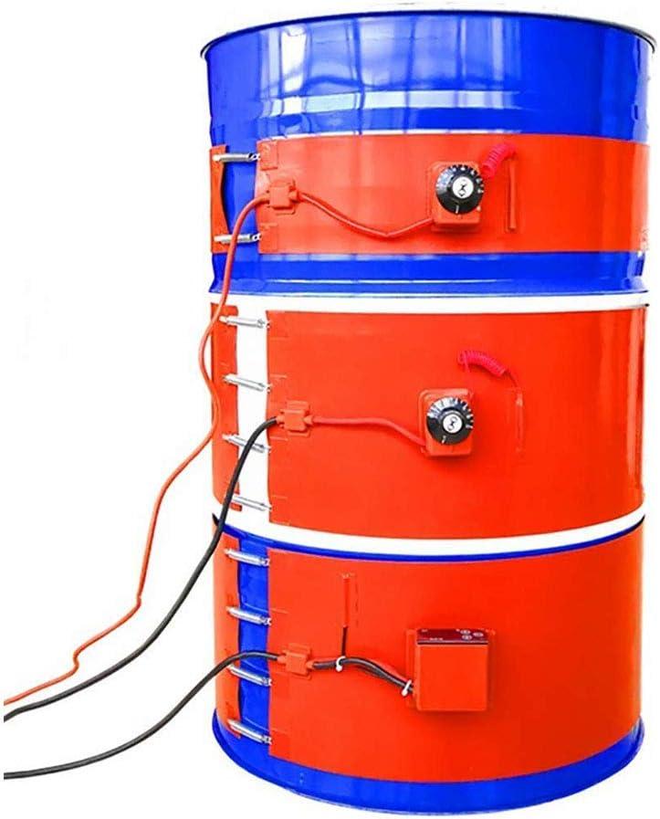 Q&Z Calentador De Barril De Grasa,53 Galones/200 Litros Calentador De Tambor De Aceite De Metal De Silicio Calentador De Cubeta Con Control De Temperatura Giratorio