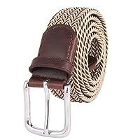 Cinture Per Uomo Elastico Pantaloni Casual Pantaloni Cinture Fibbia Multicolore Cinture Di Tessuto Uomo Desiderio Confezione Regalo