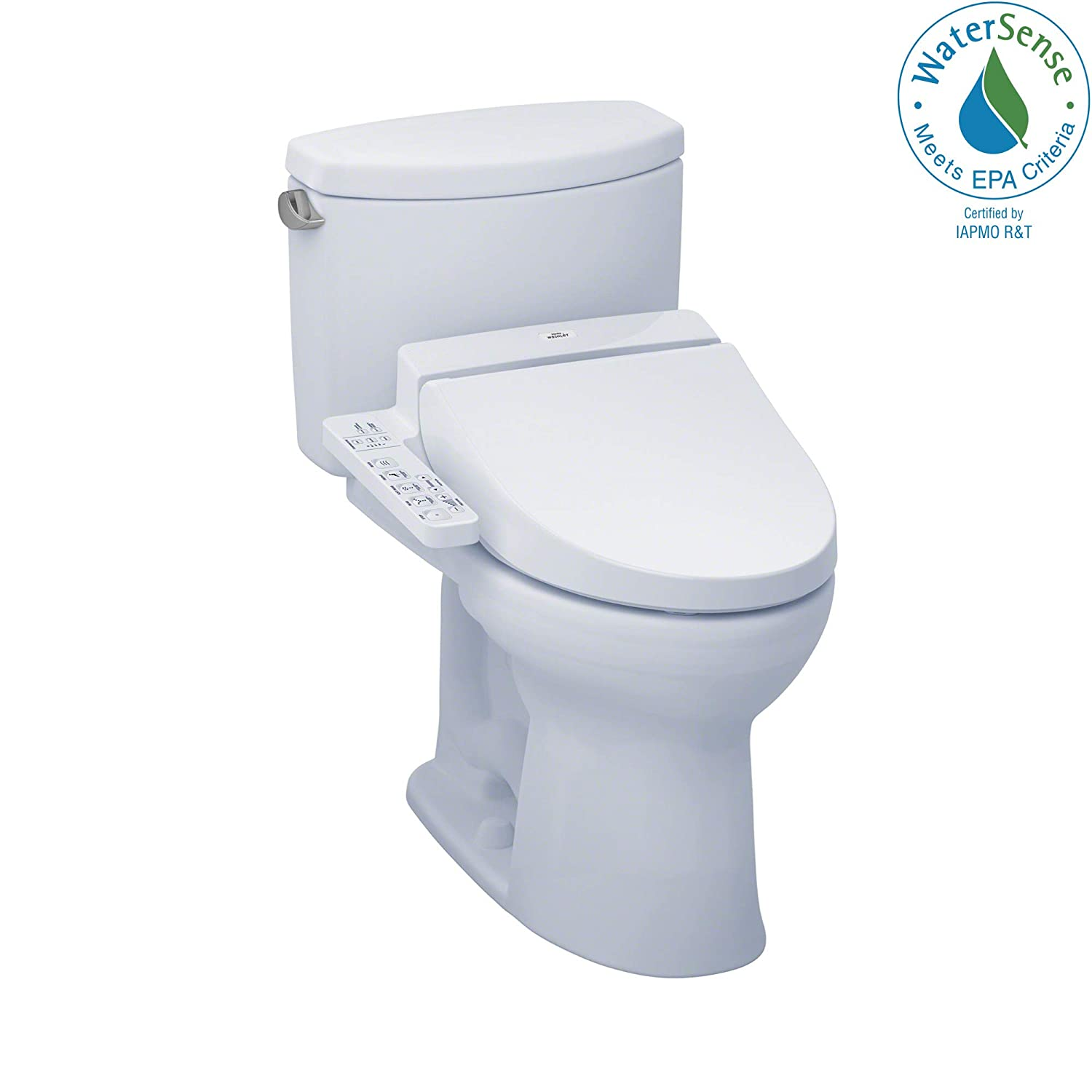 TOTO MW4542034CEFG#01 C100 WASHLET+ Kit, Drake II Elongated 1.28 GPF