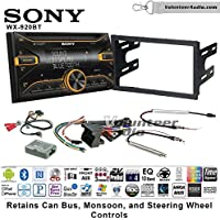 Volunteer Audio Sony WX-920BT Double Din Radio Install Kit with Bluetooth, Pandora, and SiriusXM Ready For 2002 Volkswagen Golf, 2002 Jetta, 2002 Passat with Amplified Systems