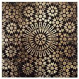 Black and Gold Mandala Canvas Print, 36'' x 36''