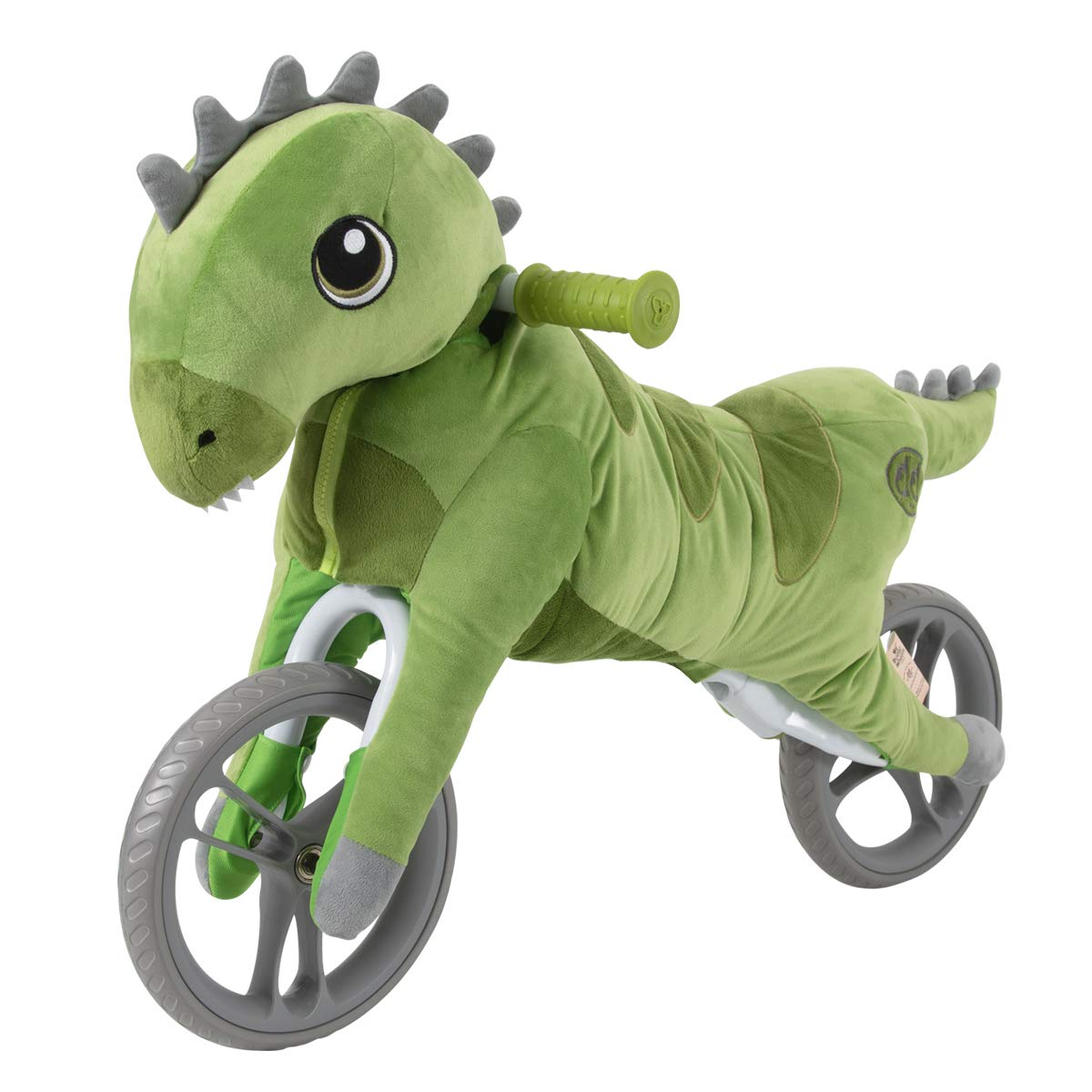 Yvolution My Buddy Wheels Dino Balance Bike with Plush Toy | Training Bicycle for Toddlers Age 2 Years +