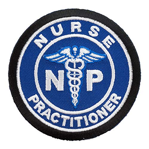Nurse Practitioner Medical Symbol Blue Patch, Medical Patches
