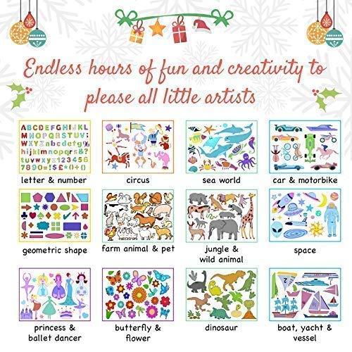 Set de Arte de Plantillas de Dibujo Para Niños de Creabow Crafts - Actividad Para Viajes y Juguete Educativo Para Mejorar la Creatividad - El Regalo Ideal ...