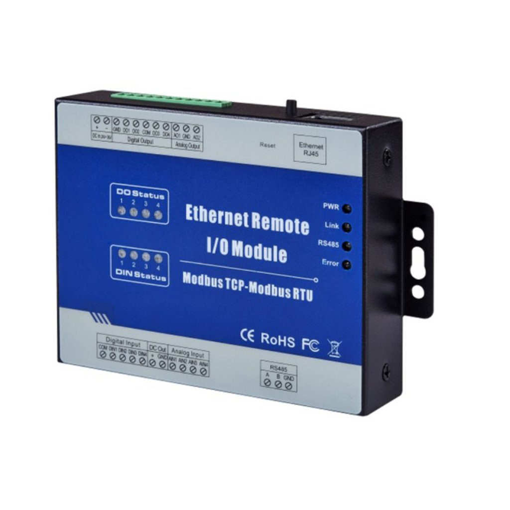 Blesiya M220T Modbus TCP Ethernet Remote IO Module (4DO sink Output+RJ45+RS485), Industrial Uses