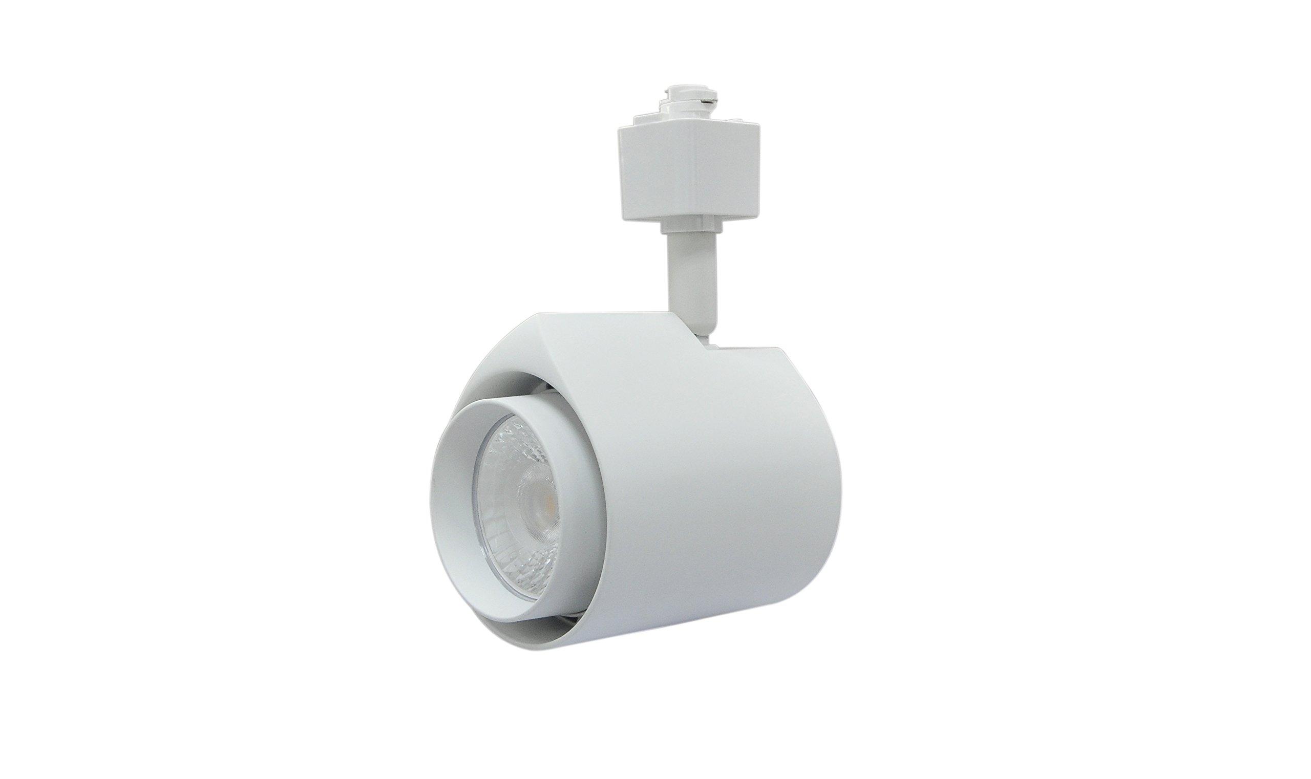Infinity Green Lighting IG-TR014 22W 3-Wire Round LED H Type Track Head Lighting (White, 5000K)