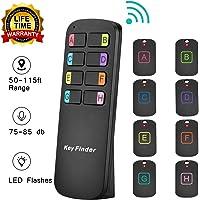 $28 Get Key Finder Locator,Item Tracker Wireless RF Item Locator with Letters,Key Tracker with 85DB Loud…